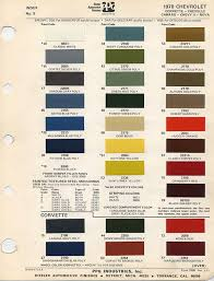 69 Camaro Color Chart Gm Color Chips Color Chips Paint Codes Gm Nymcc
