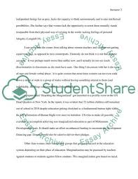 Education Marginalization Essay Example Topics And Well