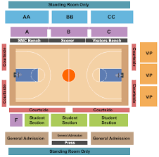 Buy Santa Clara Broncos Basketball Tickets Seating Charts