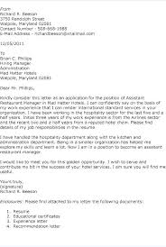 Assistant Department Manager Cover Letter Gallery Of Ideas Of ...