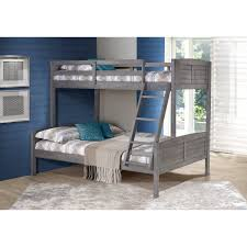 Donco Kids Antique Grey Louver Twin over Full Bunk Bed - Free ...