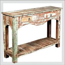 Distressed white console table Beachy Distressed White Console Table New Wood Ebay Decoration Distressed White Console Table New Wood Rustic White