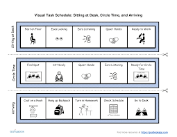 Classroom Routine Chart Visual Task Schedule Udl Strategies Goalbook Toolkit