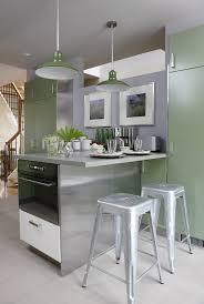 silver green kitchen