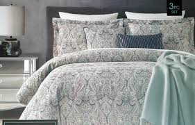 cynthia rowley bedding 3 piece queen duvet cover in grey for bedroom decoration ideas