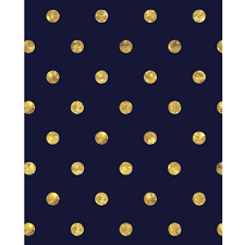 Blue And Gold Design Gold Polka Dots On Navy Blue Printed Backdrop