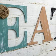 rustic chic wooden letter eat kitchen home decor wall hanging personalize custom farmhouse cottage burlap flower