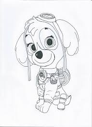Skye Paw Patrol Coloring Pages At Getdrawingscom Free For