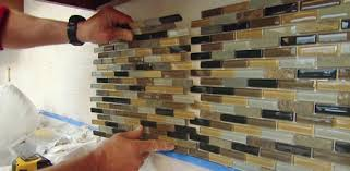 Tile Backsplash Installation