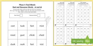 Some of the worksheets for this concept are phonics websites, phase 4 planning, phonics word lists phase 4 and phase 5 lists of words to, went its, letters and sounds phase five, phonics assessment and tracking guidance, super phonics 2, esol literacies national 2. Phase 4 Color By Final Blends Real And Nonsense Words Worksheet