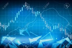 Creative Glowing Forex Chart Wallpaper Trade And Stock Concept