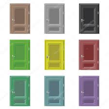 closed door drawing. Delighful Door Isolated Closed Door Drawing Color Set Vector U2014 Stock Vector Intended Closed Door Drawing