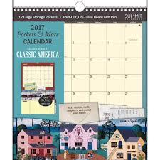 more calendars americana pockets and more 2017 wall calendar 9781608285198