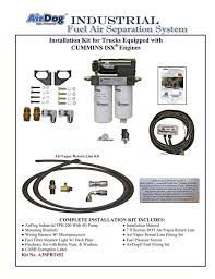 pureflow technologies inc home of the airdog® cummins isx airdog® and complete installation kit for cummins® isx