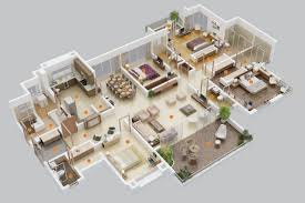 Small 4 Bedroom House Plans 50 Four 4 Bedroom Apartment House Plans Architecture Design