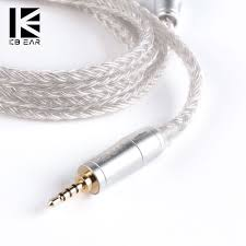 <b>KB EAR 16</b> core silver cable with metal 2pin/MMCX/QDC Connector ...
