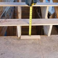 include finished flooring when laying out stairs