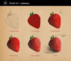 study n 1 strawberry romane besly on artstation at s art tutoriarawing tutoriaigital painting