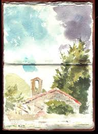 sketchbook watercolour of chiesa del carmine