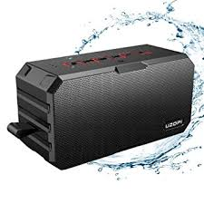 outdoor bluetooth speakers. outdoor waterproof bluetooth speakers, uzopi ip67 10w portable wireless stereo speakers with enhanced bass,