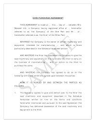 Purchase Agreement Samples Sample Of A Hire Purchase Agreement ClassTalkers 4