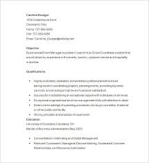 Free Event Planner resume Download