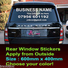 Car Rear Window Stickers Advertising Vinyl Car Lettering Graphics