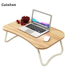 bed laptop table multi purpose small with slot simple dormitory lazy desk on wooden for bed laptop table