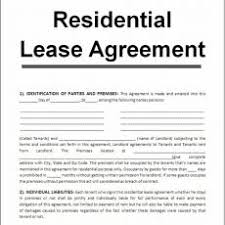 Printable Sample Rental Lease Form Real Estate Forms - Round House Co