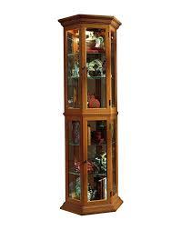 Corner Kitchen Curio Cabinet Amazoncom Pulaski Curio 25 By 11 By 70 Inch Medium Brown