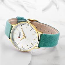 curren fashion simple women s leather watch