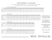 Five Four Clothing Size Chart Mac Duggal Dress And Gown