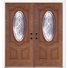 Decorating fiberglass entry doors : Left-Hand/Inswing - Feather River Doors - Double Door - Fiberglass ...