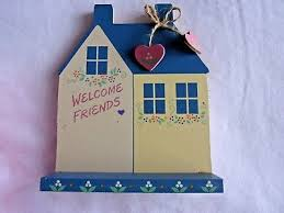 vintage perpetual calendar wooden tile welcome friends house