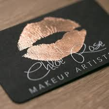 gold lips business card