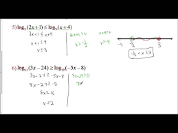 lesson 8 4 solving logarithmic inequalities examples 4 6 you