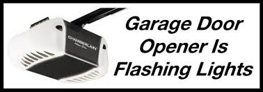 garage door opener flashing led light