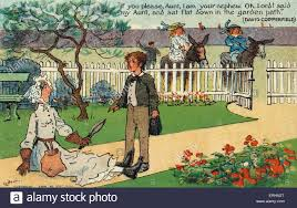 charles dickens s novel david copperfield postcard drawing of charles dickens s novel david copperfield postcard drawing of scene caption reads if you please aunt i am your nephew