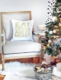 decorating ideas throw pillow with holiday message white living room decor wall black