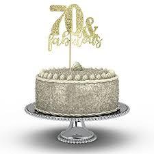 Happy Birthday Cake Topper 70th Birthday Cupcake Topper For