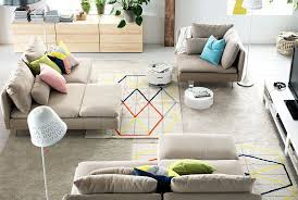 ideas for small living rooms ikea sectional white cover couch white fur rug purple wool
