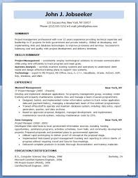 Template Cover Letter Resume Project Manager Entry Level Best Of