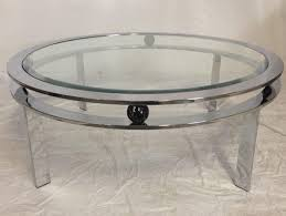 glass top coffee table for american 1970 s art deco style