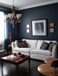 Cool Images Of Apartment Design And Decoration Ideas : Fair Apartment  Living Room Design Using Navy
