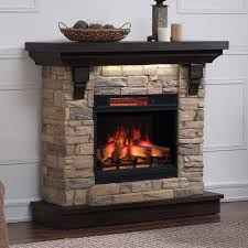 eugene infrared electric fireplace mantel package in aged coffee 23wm8909 i612