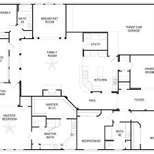 4 Bedroom House Plans 1 Story 5 3 2 Bath Floor Best Farmhouse Luxamcc