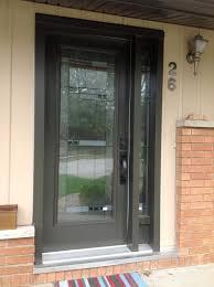 black front door wood and glass
