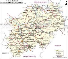 Nrw) ist ein deutsches bundesland. Map Of Nordrhein Westfalen Nordrhein Westfalen Map Germany