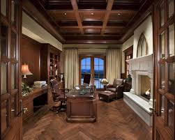 traditional home office design. Brown Traditional Home Office Design