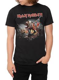 >official iron maiden t shirts merchandise hot topic iron maiden the trooper t shirt black hi res
